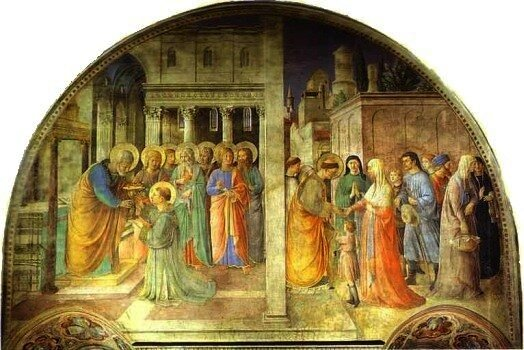 Ordination of St. Stephen the Deacon, by Fra Angelico, 1447-1449